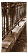 Iron Fence With Shadows Beach Towel