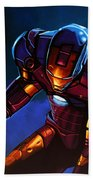 Iron Man Beach Towel by Paul Meijering