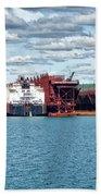 Iron Ore Loading Onto Laker Beach Towel