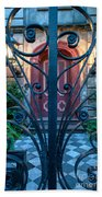 Iron Scroll Entrance Beach Towel
