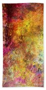 Iron Texture Painting Beach Towel