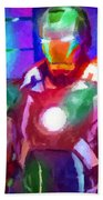 Ironman Abstract Digital Paint 2 Beach Towel