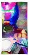 Ironman Abstract Digital Paint 3 Beach Towel