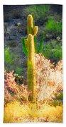 Ironwood Saguaro Dance Vignette Beach Towel