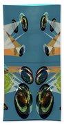 Irregular Mirrored Watches Beach Towel