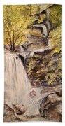 Iruppu Falls  Beach Towel