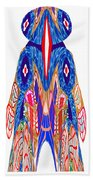 Is That A Head Or A Hat ??  Alien Fineart Graphic Whimsical Rohrshoc Abstract By Navinjoshi Beach Towel
