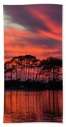 Island In The Fire Beach Towel