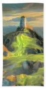 Island Lighthouse Beach Towel