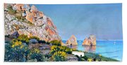 Island Of Capri - Gulf Of Naples Beach Towel