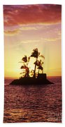 Island Silhouette Beach Towel