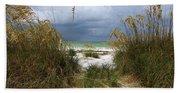 Island Trail Out To The Beach Beach Towel