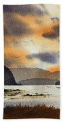 Islands Autumn Sky Beach Towel
