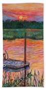Isle Of Palms Sunset Beach Towel