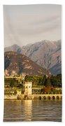 lake Maggiore, Borromean island, Piedmont Italy Beach Towel