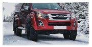 Isuzu In The Snow Beach Towel