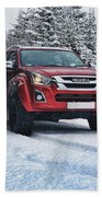 Isuzu In The Snow Beach Sheet