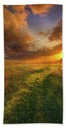 It Hitches The Soul To The Stars Beach Towel