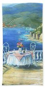 Italian Lunch On The Terrace Beach Towel