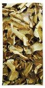 Italian Market Dried Mushrooms Beach Towel