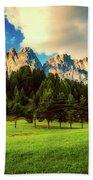 Italian Mountain Meadow Beach Towel