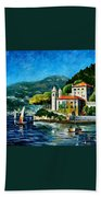 Italy - Lake Como - Villa Balbianello Beach Towel