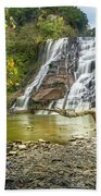 Ithaca Falls In Early Autumn Beach Towel