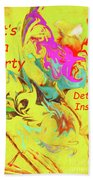 It's A Party Abstract Beach Towel