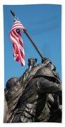 Iwo Jima 1945 - War Memorial, Cape Coral, Florida Beach Towel