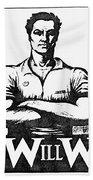 Iww Poster, 1917 Beach Towel