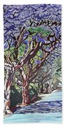 Jacaranda Road Beach Towel