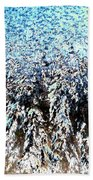 Jack Frost Forest Beach Towel