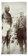Jack Johnson - Heavyweight Boxing Champion  1908 - 1915 Beach Towel