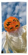 Jack-o-lantern Man Beach Towel