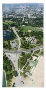 Jackson Park In Chicago Aerial Photo Beach Towel