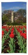 Jackson Park Spring Tulips 2 Beach Towel