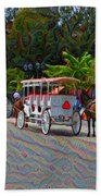 Jackson Square Horse And Buggies Beach Towel