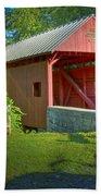 Jackson's Mill Covered Bridge Beach Towel