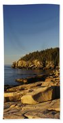 Jagged Coast Of Maine Beach Sheet