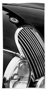 Jaguar Grille Black And White Beach Towel