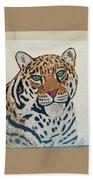 Jaguar Painting Beach Towel