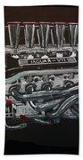 Jaguar V12 Twr Engine Beach Towel