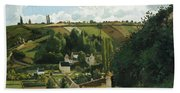 Jalais Hill At Pontoise Beach Towel