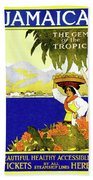 Jamaica, The Gem Of Tropics Beach Towel