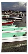 Jamaican Fishing Boats Beach Towel