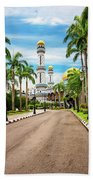 Jame'asr Hassanil Bolkiah Mosque In Brunei Beach Towel