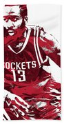 James Harden Houston Rockets Pixel Art 3 Beach Sheet
