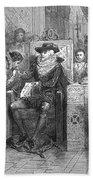 James I Appoints Bacon Lord Chancellor Beach Towel