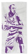 James Worthy Los Angeles Lakers Pixel Art Beach Towel