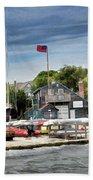 Jamestown Boat Yard Beach Towel